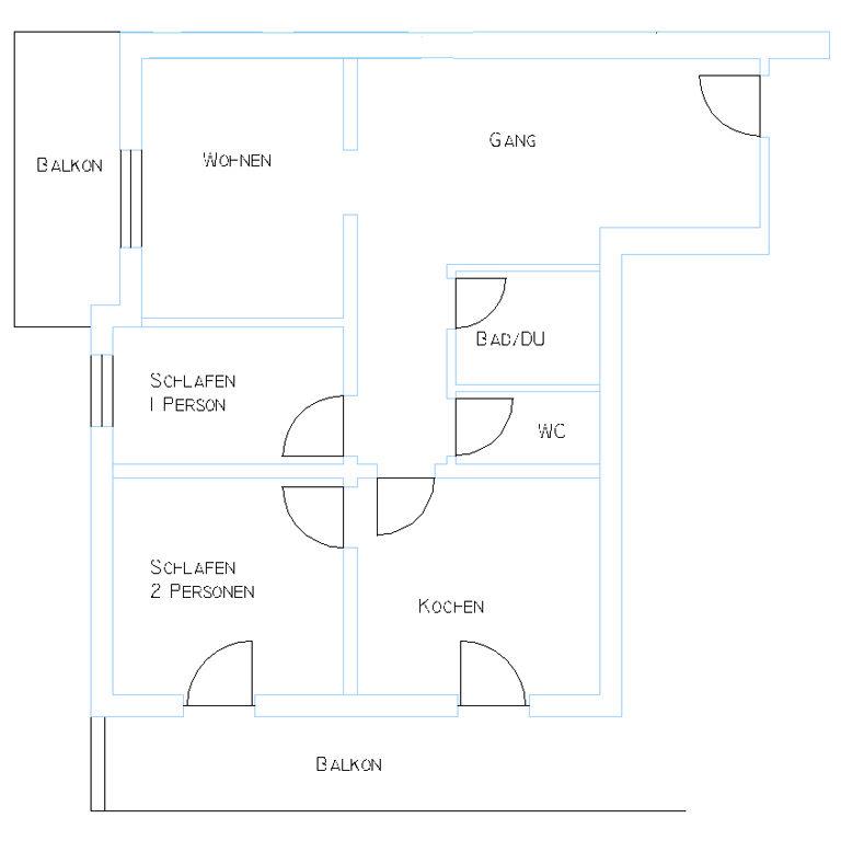 Apart 4 Planskizze 2-3 Personen